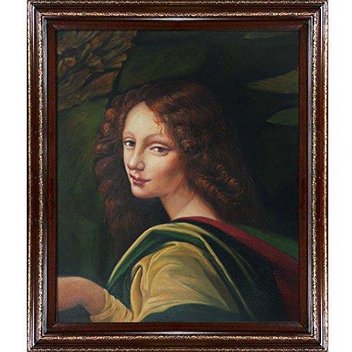 UPC 688576809915, overstockArt Da Vinci LDV2086-FR-EDCHG20X24 The Virgin of the Rocks with Heritage Wood Frame, Cherry Finish/Gold Trim
