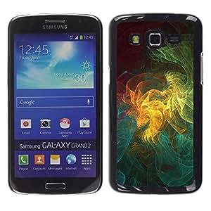 Qstar Arte & diseño plástico duro Fundas Cover Cubre Hard Case Cover para Samsung Galaxy Grand 2 II / SM-G7102 / SM-G7105 ( Art Pattern Geometrical Colorful Universe)