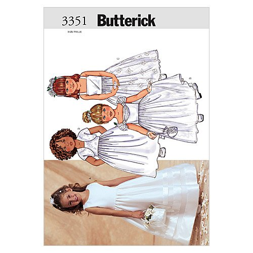Vintage Flower Patterns (Butterick Patterns B3351 Children's/Girls' Jacket & Dress, Size 2-3-4-5)