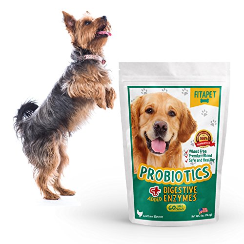 Fitapet Dog Probiotics Chewable For Dogs With Sensitive Stomachs