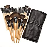 Lisli® 32pcs Professional Soft Cosmetic Makeup Brush Set Kit with Pouch Bag Case (Black)