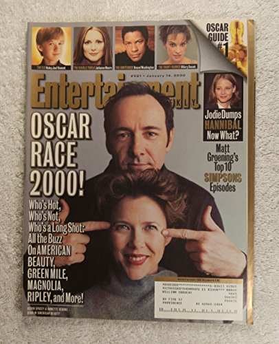 Kevin Spacey & Annette Benning - American Beauty - Entertainment Weekly - #521 - January 14, 2000 - Matt Groening's Top 10 Simpsons Episodes