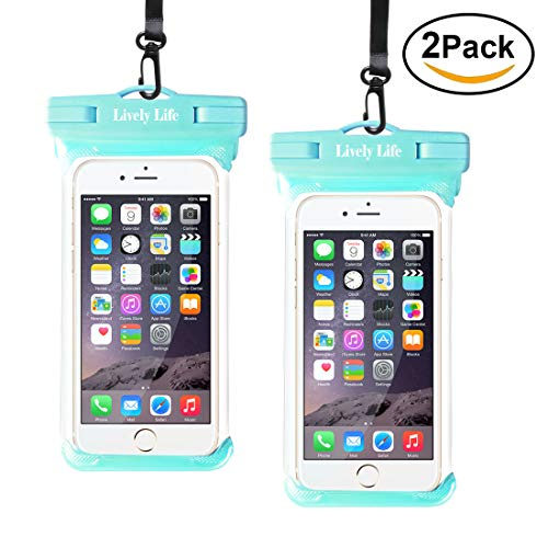 2 Pack Waterproof Pouch for Phone, Lively Life IPX8 Waterproof Pouch Bag...