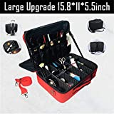 Arrival Large Multi-Storey Professional Make Up Package Bag Nail Pattern Semi-Permanent Tool Box Cosmetic Case Bags Large red 3layer v3