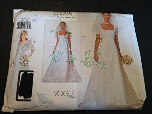 vogue-2085-sewing-pattern-misses-wedding-dress-size-12-14-16-bellville-sassoon-vogue-bridal-original