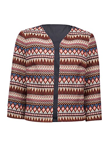 Choies Geo Tribal Embroidered Cardigan Printed