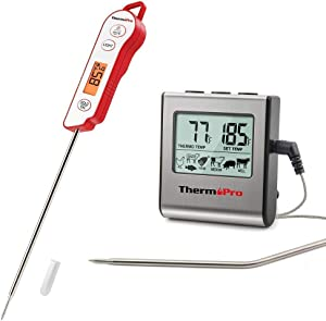 ThermPro TP16 Digital Meat Thermometer + ThermoPro TP15 Waterproof Instant Read Thermometer