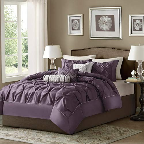 Hemau Premium New Soft Laurel 7 Piece Comforter Set Size: California King, Color: Plum | Style -