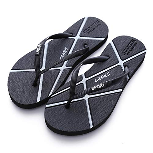 Sam Carle Women Flip Flops Ultra Soft Flat Heel Casual Outdoor Travel Seaside Vacation Slippers Black