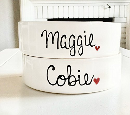 Custom Dog Bowl, Personalized Dog Bowls, Dog Bowls, Ceramic Cat Bowls, Personalized Dog Bowls- Personalized Cat Bowls, 2 Sizes Available (Dog Bowls Personalized Ceramic)