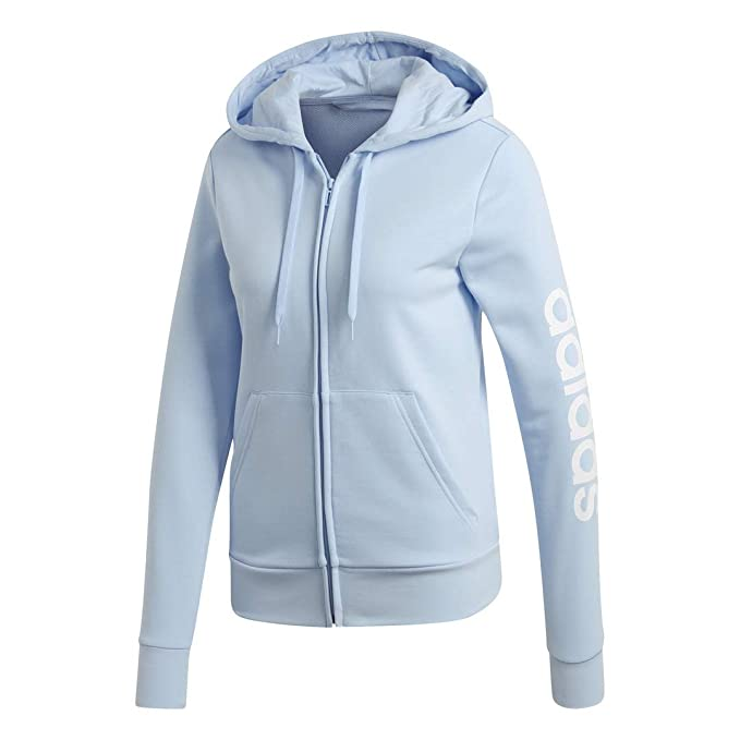 felpa adidas zip blu