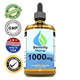 Cheap Serenity Hemp Oil – 4 fl oz 1000 mg (Orange) – Certified Organic – Relief for Stress, Inflammation, Pain, Sleep, Anxiety, Depression, Nausea – Rich in Vitamin E, Vitamin B, Omega 3,6,9 and More!