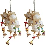 (2 Pack) A&E Happy beaks Wiffler Assorted Bird Toys, 4 by 14''