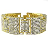 MCSAYS Fashion Hip Hop Rhinestone CZ Crystal Tennis Chain Men's Bling Bling Bracelet Iced out
