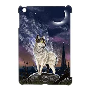 KSDHPNECASE Hot Top Diy Case Of Gray Wolf 3D Bumper Plastic Customized Case For iPad Mini