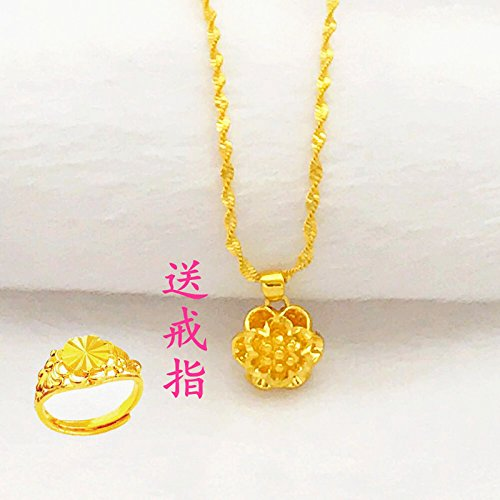 Generic little swan 999 _Vietnamese_shakin_pure_24k_ gold-plated gold _coins_ Europe _does_not_fade_ genuine _artificial_ gold necklace pendant women girl _gold by Generic (Image #4)