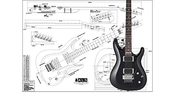 Plan de Ibanez SATRIANI modelo guitarra eléctrica – escala completa impresión: Amazon.es: Instrumentos musicales