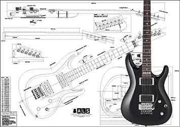 Plan de Ibanez SATRIANI modelo guitarra eléctrica - escala completa impresión: Amazon.es: Instrumentos musicales