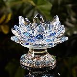 Creative Crystal Lotus candle holder flower butter lamp holder