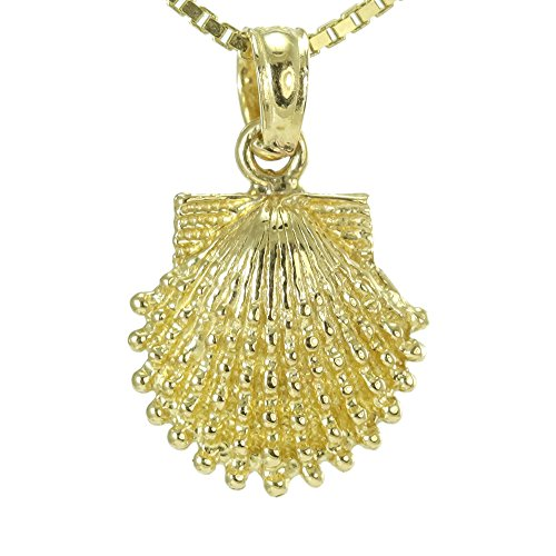 14k yellow gold sea shell pendant 14k Yellow Gold Seashell Pendant