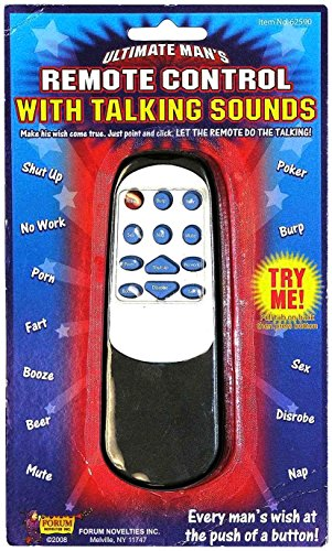Forum Novelties Ultimate Man's Remote Control with Talking Sounds Funny Gag Gift Prank