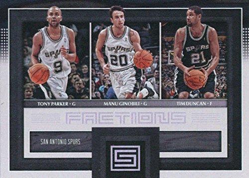 s Factions #24 Manu Ginobili/Tim Duncan/Tony Parker San Antonio Spurs Basketball Card ()