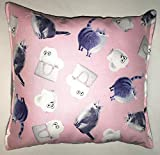 """Secret Life Of Pets Pillow Cats Pillow Chloe & Gidget Pillow HANDMADE in USA is approximately 10"""" X 11"""""""