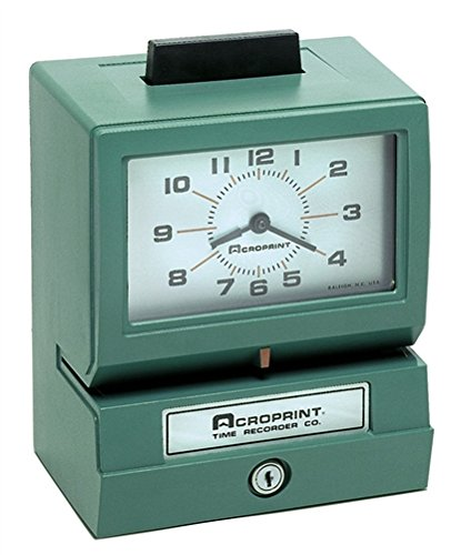 Acroprint 125RR4 Heavy Duty Manual Time Recorder for Month, Date, Hour (0-23) and Hundreths Time (Recorder Manual)