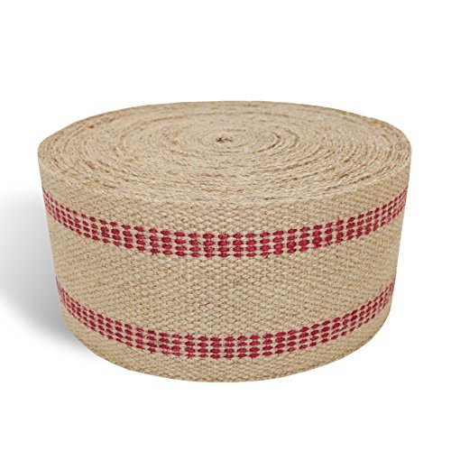 Red Upholstery Craft Jute Webbing, 11 lbs 3.5'' x 10Yd and 20 Yd Rolls (20 yd) by Wholesale Upholstery Supply (Image #2)