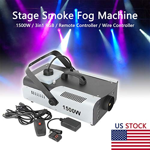 Tengchang 1500W Halloween Smoke Fog Machine 3in1 RGB Stage Fogger LED Stage Effect Remote DJ Show US