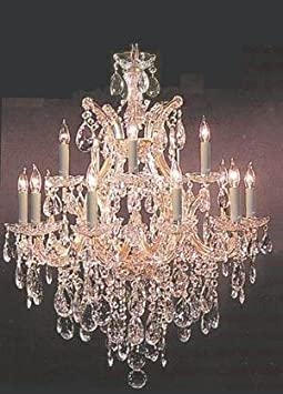 Crystal Chandelier 30X28 Made with Swarovski Crystal H30 X W28