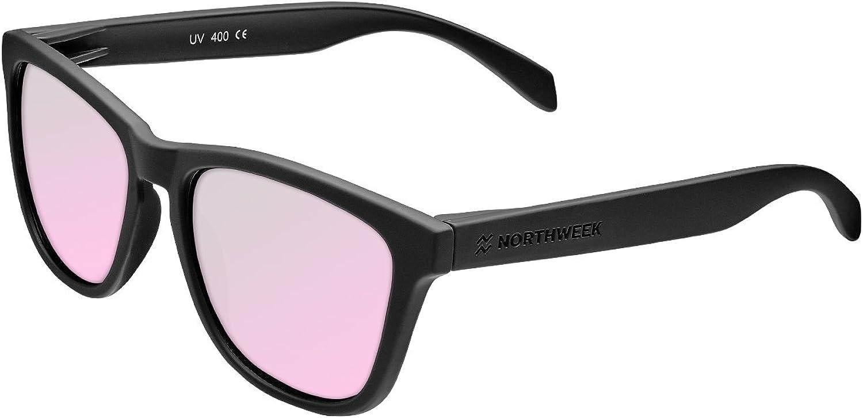 Northweek Regular Pipe - Gafas de Sol para Hombre y Mujer, Polarizadas, Negro/Rosa