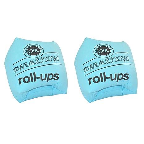 Teabelle 2 Pcs Piscina brazaletes Aire Flotador Inflable de Aprendizaje de los niños para Adultos Entrenamiento