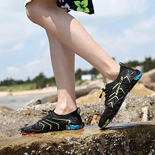 Uomo Yoga scarpa Beikoard Verde Per Da Passeggio Sportive Piscina Scarpe Bordo A Donna Spiaggia HwqYqzx