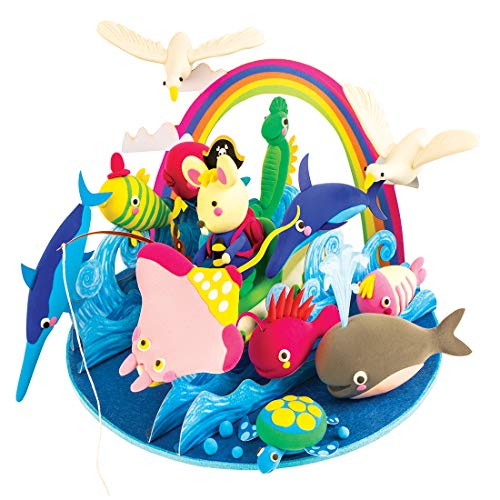 Power Children's Plasticine Space Soft-Shaped Carved Clay Nontoxic Snow Clay,B,19Cm19Cm13Cm
