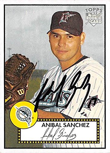 Anibal Sanchez autographed baseball card (Florida Marlins) 2006 Topps 52#265 - Baseball Slabbed Autographed Cards