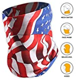 UV Face Mask – Neck Gaiter for Dust & Sun Protection – Face Cover/Scarf for Fishing, Hiking, Cycling & ATV Riding – UPF 30 Breathable Summer Balaclava – Moisture Wicking 12-in-1 Headwear