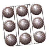 B Blesiya 9-Cavity Carbon Steel Madeleine Pan Cookie Mold,Baking Mold, Handmade Soap Moulds and more