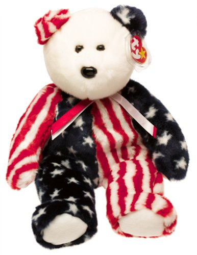 American Teddy Bear (Ty Beanie Buddies - Spangle the American Bear)