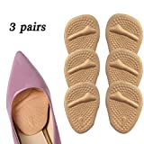 EXPER Ball of Foot Cushions Insert Metatarsal Pads No Ball of Foot Pain Absorbs Shocks Distributes Foot Pressure Comfortable Shoes Inserts for High Heels (6 Packs)
