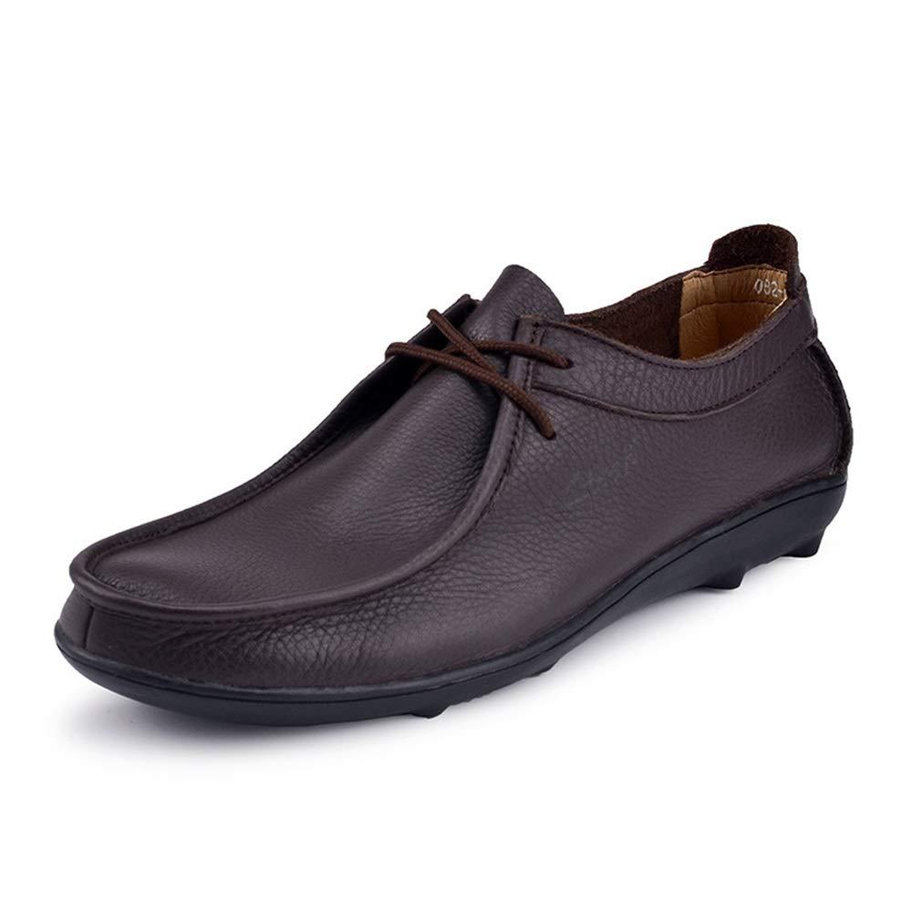 Fuxitoggo Herren Lace up Loafers weiche Sohle Sohle Sohle Nicht Beleg beiläufige Breathable Fahr Schuhe (Farbe : Braun, Größe : EU 41) Braun 155800