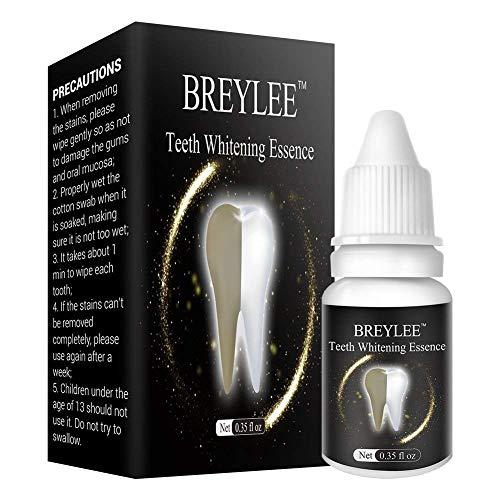 Teeth Whitening and Brightening Essence helps Remove Stains from Coffee,Wine,Smoking,Soda
