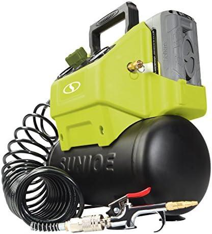 Sun Joe IONAIR 40V 4.0-Ah Cordless 1.6-Gallon Air Compressor w Inflator Accessories
