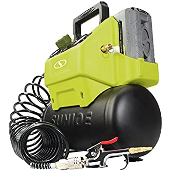 Sun Joe IONAIR-CT 40V 4.0-Ah Cordless 1.6-Gallon Air Compressor w/Inflator Accessories, (Core Tool)