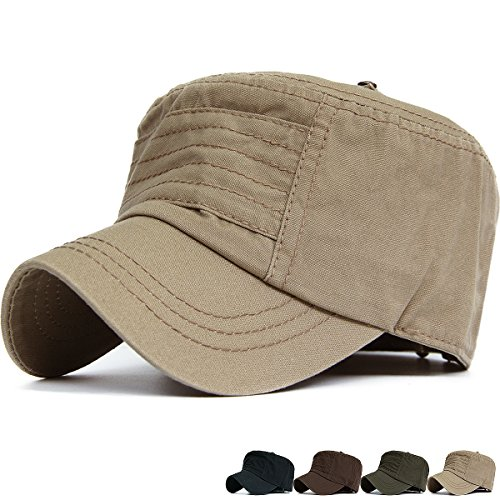 Rayna Fashion Unisex Adult Cadet Caps Military Hats Various Style and Colors Style Skull Cap