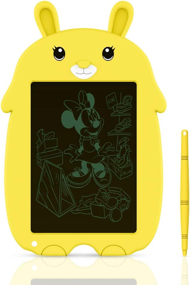 Tableta de Dibujo para Niños, Tableta de Escritura LCD Doosl Tablero de Escritura y Dibujo Electrónico de 8,5 Pulgadas Regalo para Niños, Tableta de Dibujo y Escritura Uso Doméstico Escolar (Amarillo)