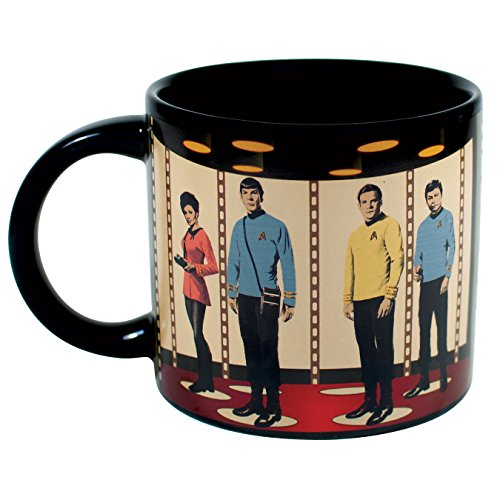 Star Trek Transporter Heat Changing Mug - Add Coffee or Tea and Kirk, Spock, McCoy and Uhura Appear on the Planet