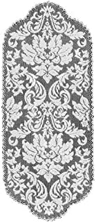 product image for Heritage Lace Heritage Damask 14-Inch by 34-Inch Runner, Pearl