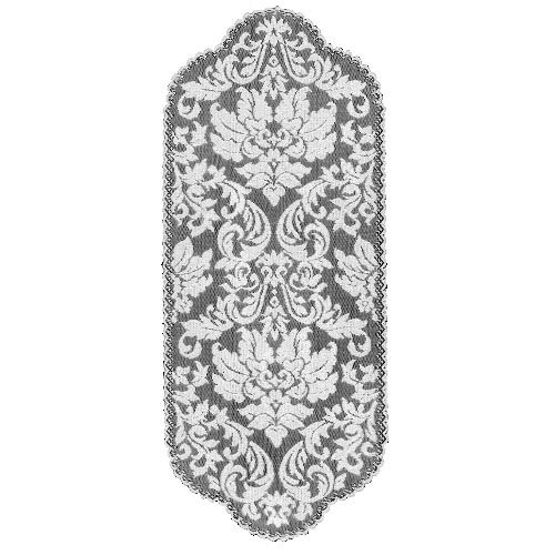 - Heritage Lace Heritage Damask 14-Inch by 34-Inch Runner, Pearl