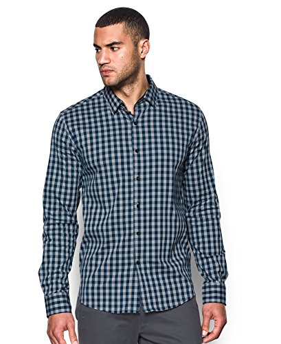 Under Armour Men's Performance Woven Shirt, Overcast Gray/Academy, Small by Under Armour (Image #3)